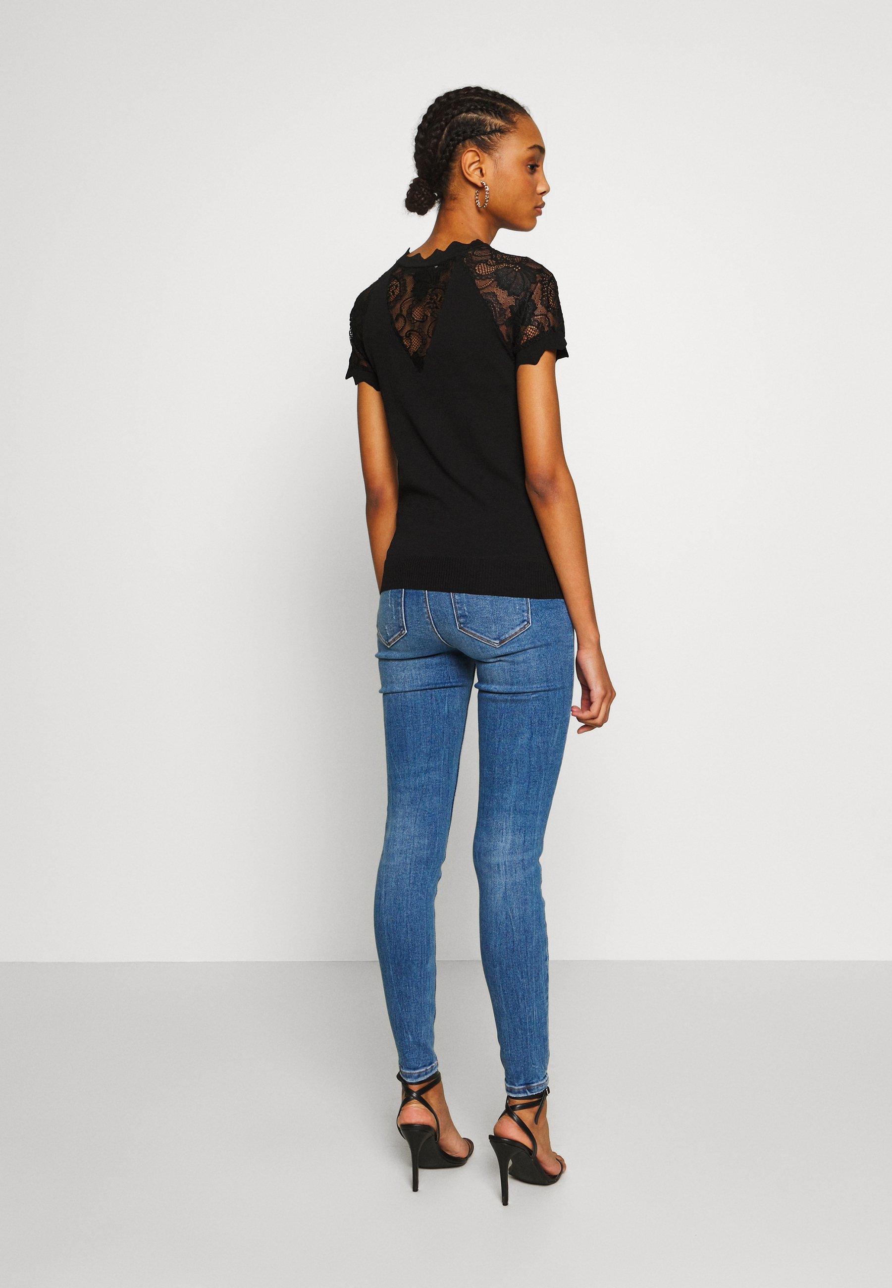 Morgan Mary - T-shirt Med Print Noir