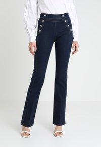 Morgan - PONTI - Slim fit jeans - dark blue denim - 0