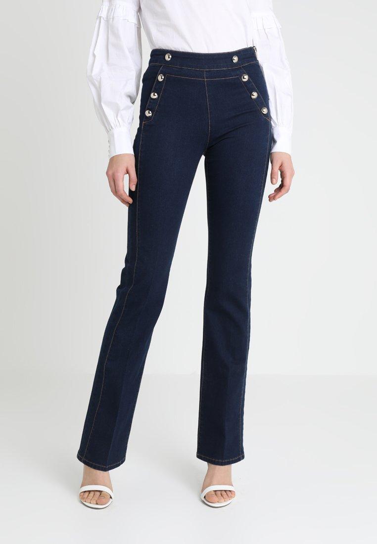 Morgan - PONTI - Slim fit jeans - dark blue denim
