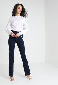 Morgan - PONTI - Slim fit jeans - dark blue denim - 1