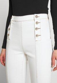 Morgan - PIXIE - Jean flare - off white - 3