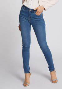 Morgan - WITH POCKETS - Jean slim - bleached denim - 0