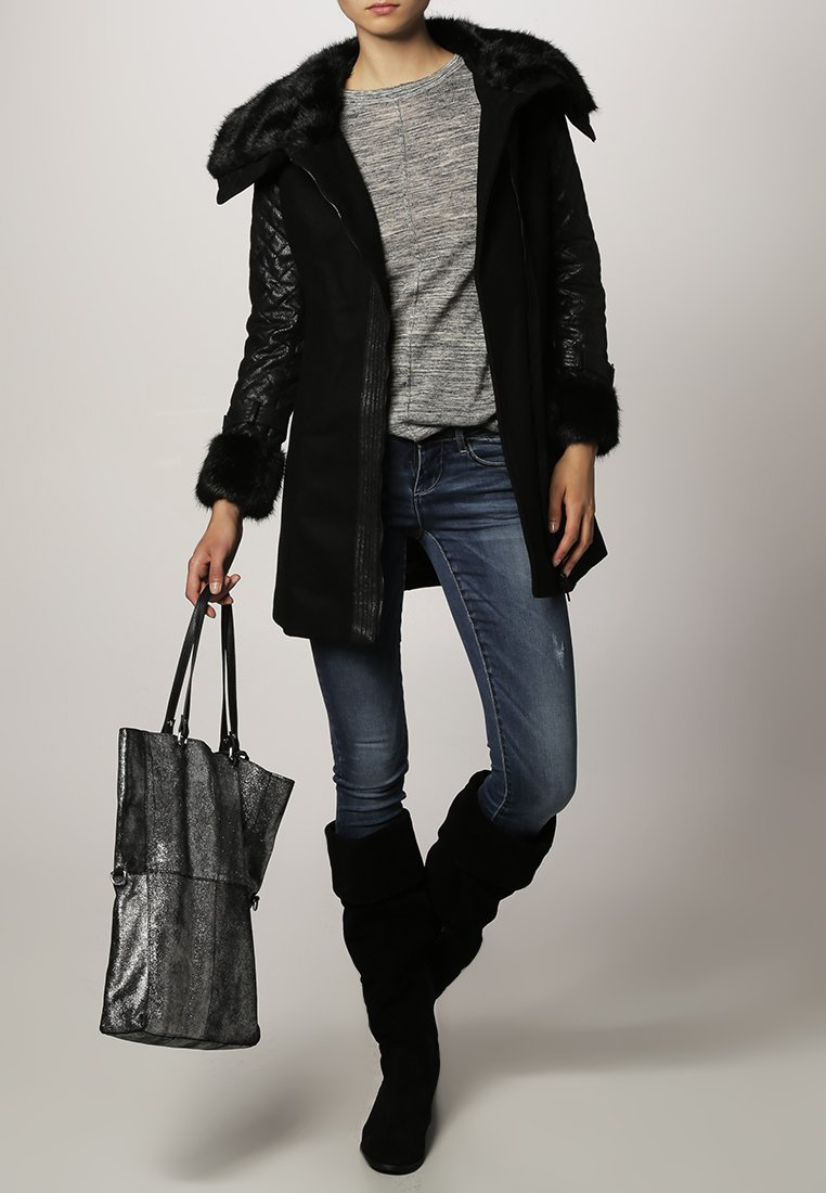 Morgan - Halflange jas - noir