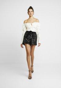 Morgan - SHATTY - Shorts - noir - 1
