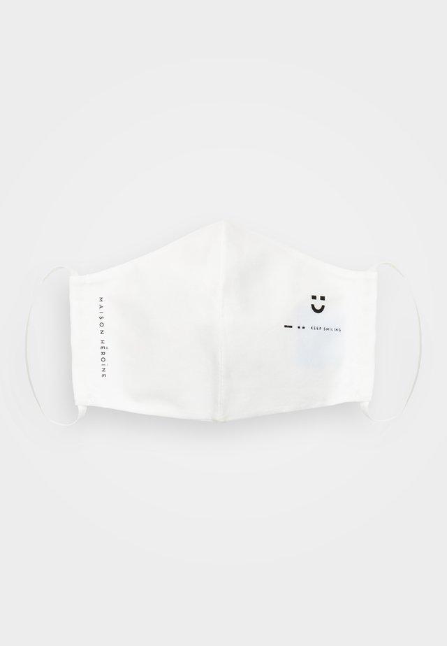 KEEP SMILING - Maska z tkaniny - white