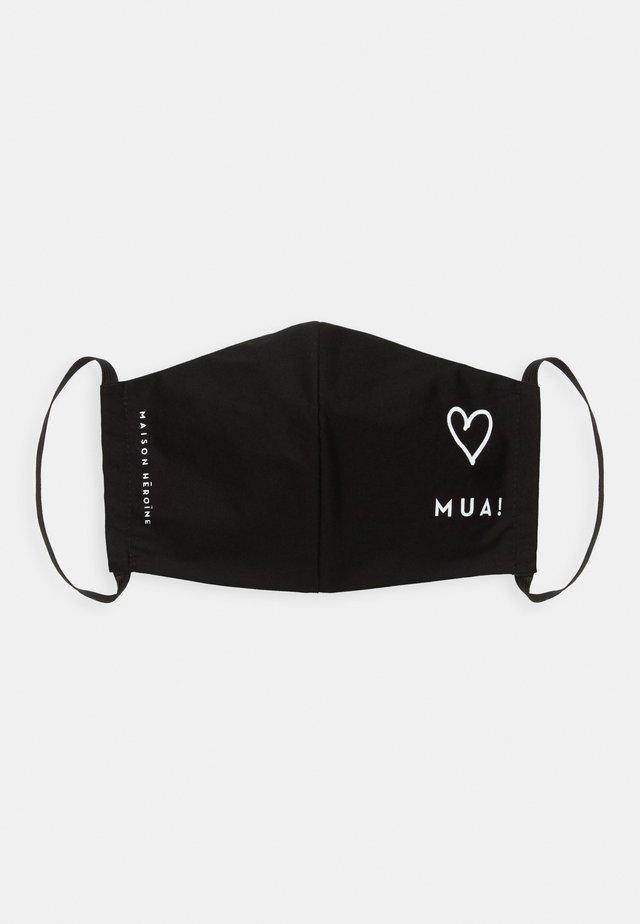 HEART - Maska z tkaniny - black