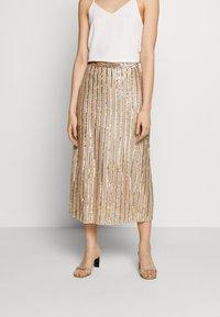 MANÉ - LAELIA SKIRT - A-line skirt - champagne/gold - 0