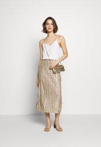MANÉ - LAELIA SKIRT - A-line skirt - champagne/gold - 1