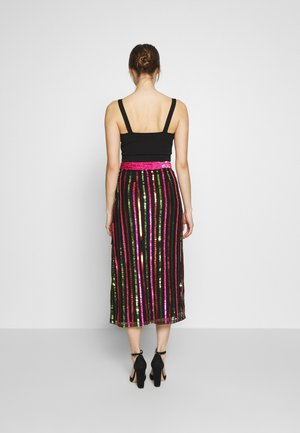 LAELIA SKIRT - A-linjainen hame - washed black/multi