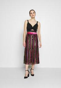 MANÉ - LAELIA SKIRT - A-line skirt - washed black/multi - 1