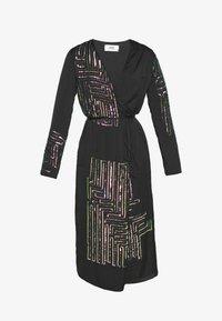MANÉ - MAZE WRAP DRESS - Cocktail dress / Party dress - washed black/rose - 5