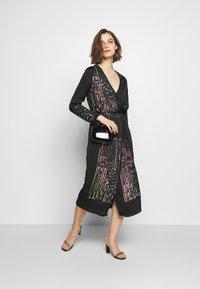 MANÉ - MAZE WRAP DRESS - Cocktail dress / Party dress - washed black/rose - 1