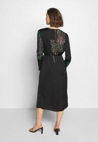 MANÉ - MAZE WRAP DRESS - Cocktail dress / Party dress - washed black/rose - 2