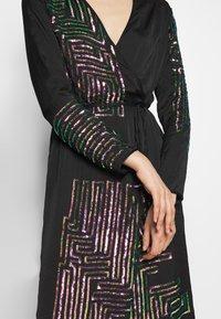 MANÉ - MAZE WRAP DRESS - Cocktail dress / Party dress - washed black/rose - 6