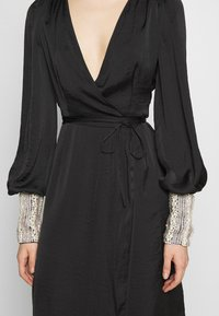MANÉ - PEARL WRAP DRESS - Cocktail dress / Party dress - black/pearl - 5
