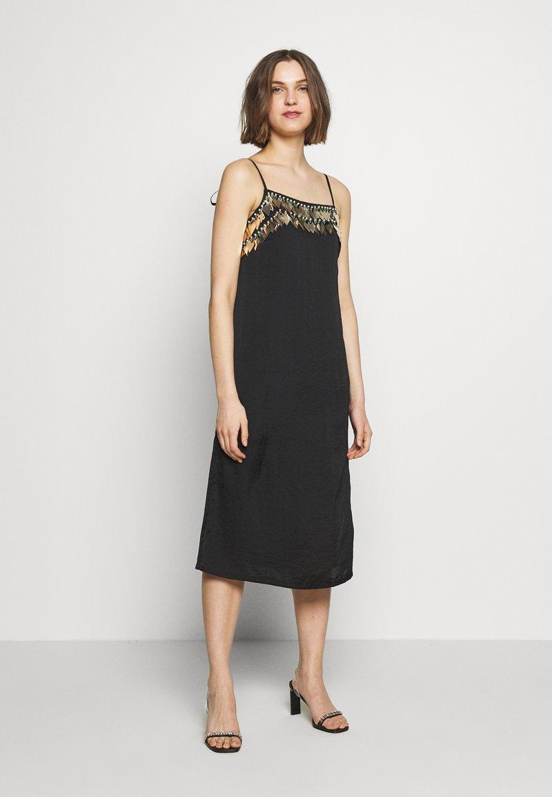 MANÉ - NOCTIS DRESS - Cocktail dress / Party dress - washed black/gold
