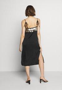 MANÉ - NOCTIS DRESS - Cocktail dress / Party dress - washed black/gold - 2