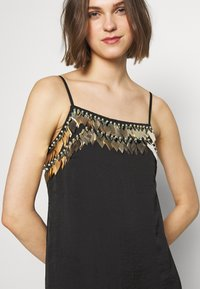 MANÉ - NOCTIS DRESS - Cocktail dress / Party dress - washed black/gold - 6