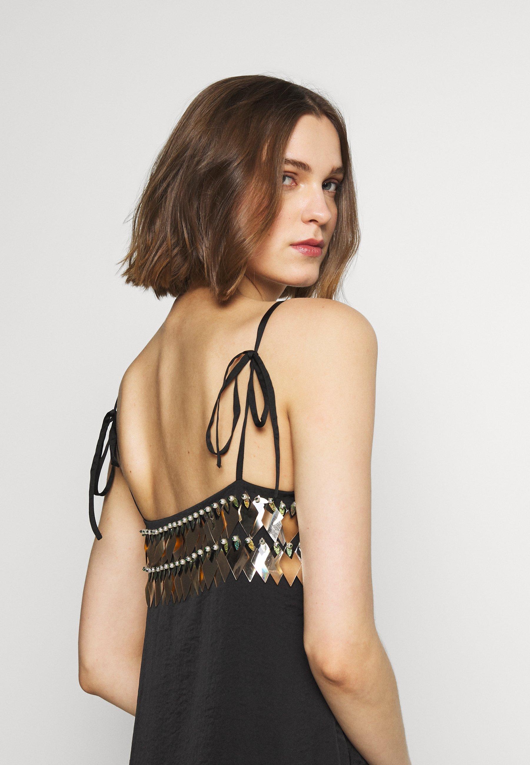 MANÉ NOCTIS DRESS - Cocktailkjole - washed black/gold