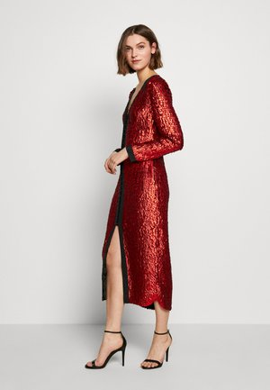 MAE DRESS - Cocktail dress / Party dress - black/rouge