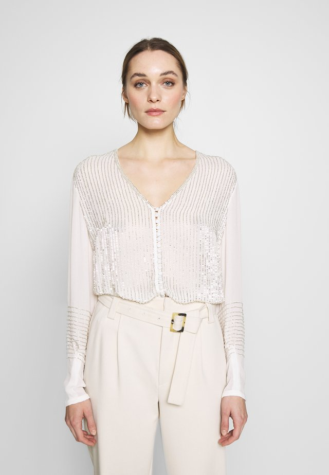 Blouse - ivory/silver