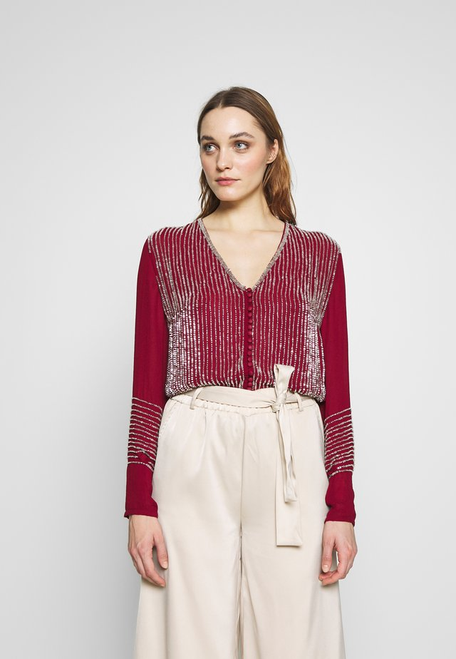 Blouse - rouge/silver