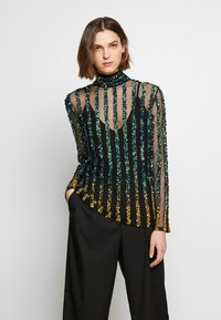 MANÉ - CETO TOP - Blouse - green / gold - 0