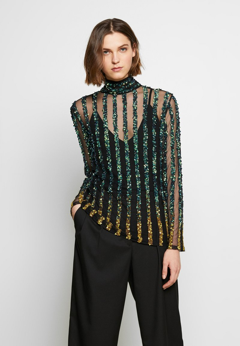 MANÉ - CETO TOP - Blouse - green / gold