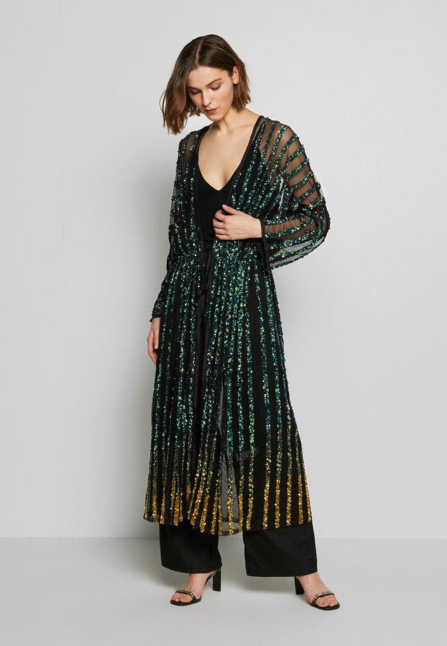 CETO DRAWSTRING - Lett jakke - washed black/emerald