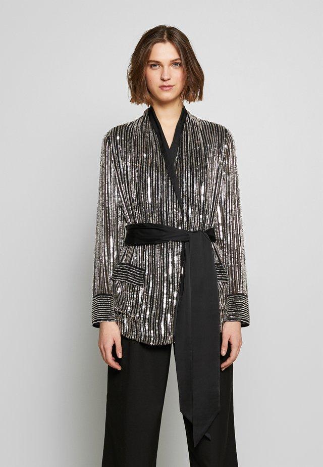 ARGENTO - Blouse - black/silver