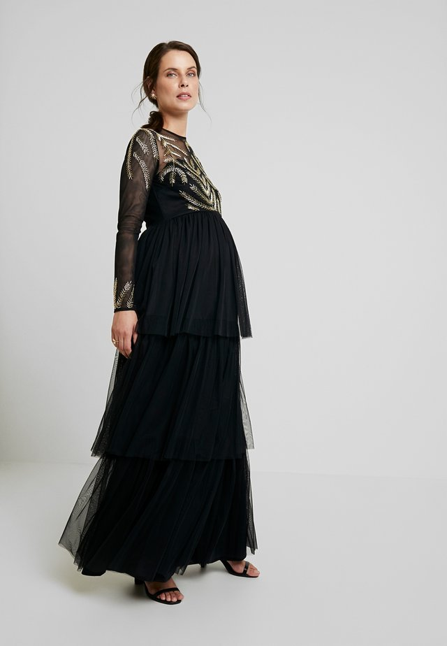EMBELLISHED BODICE MAXI DRESS - Maxikjoler - black