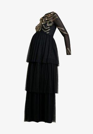 EMBELLISHED BODICE MAXI DRESS - Vestido largo - black