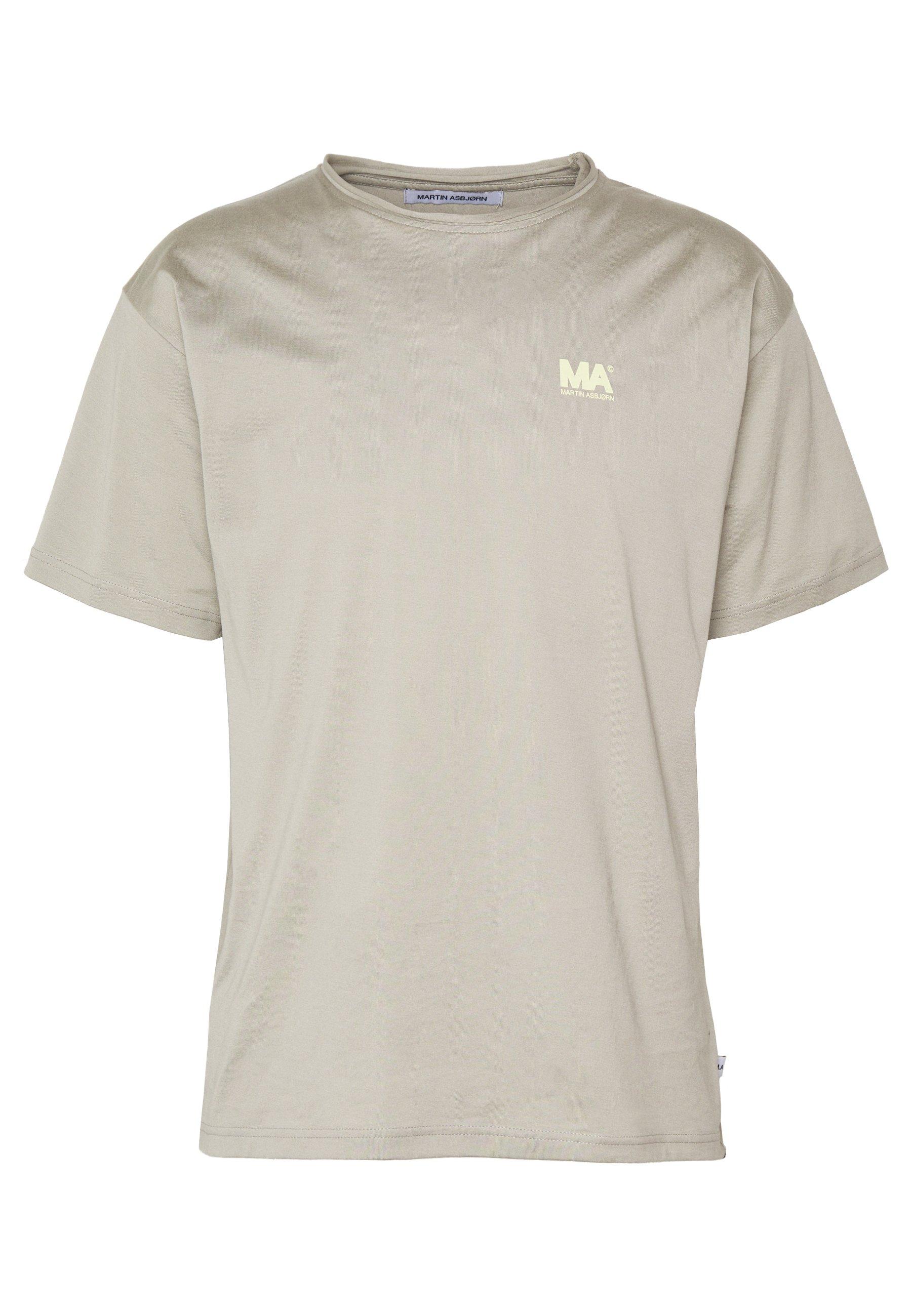 Martin Asbjørn Greg Tee - T-shirt Med Print Stone Grey