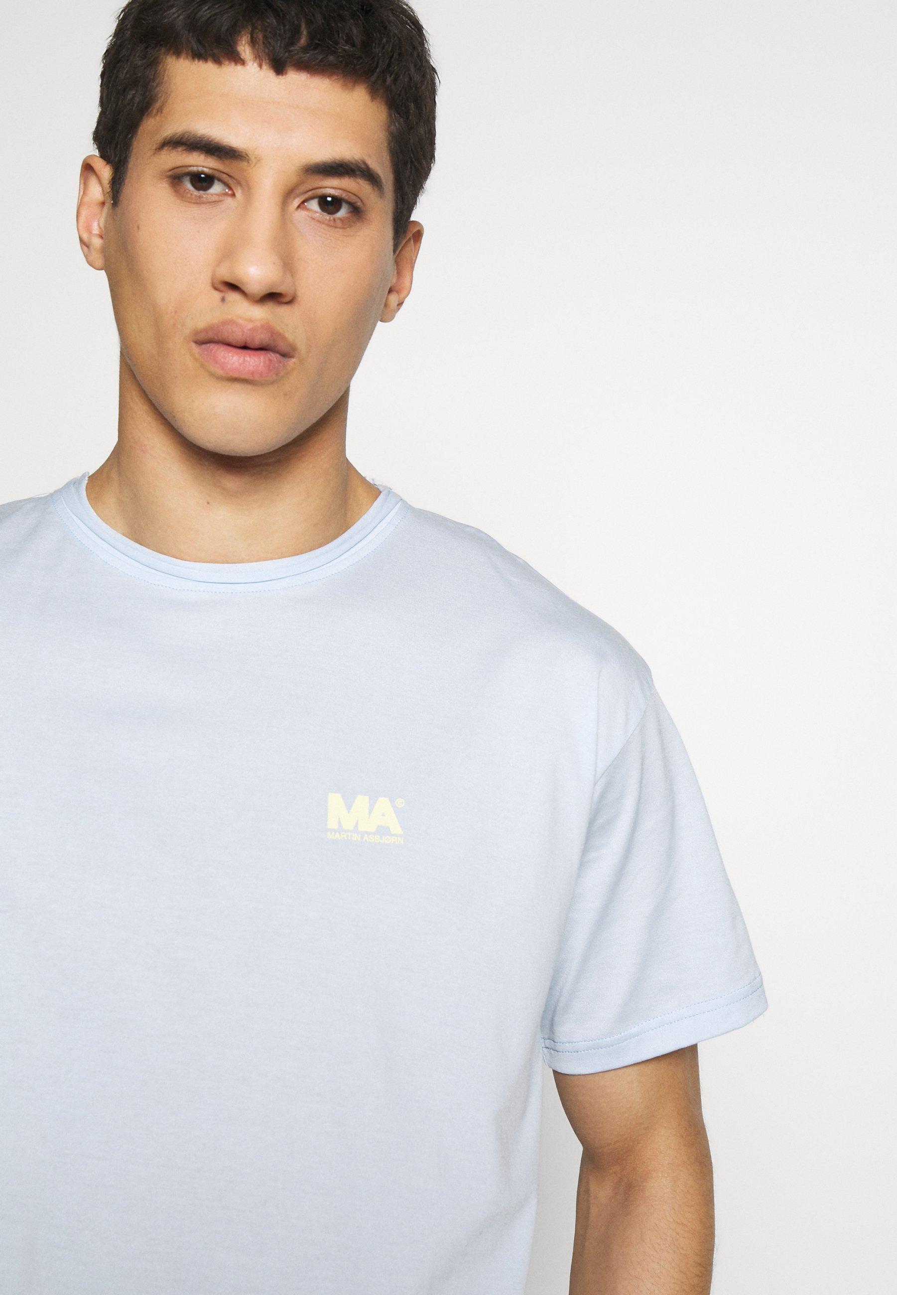 Martin Asbjørn GREG TEE - T-shirt imprimé - ballad blue