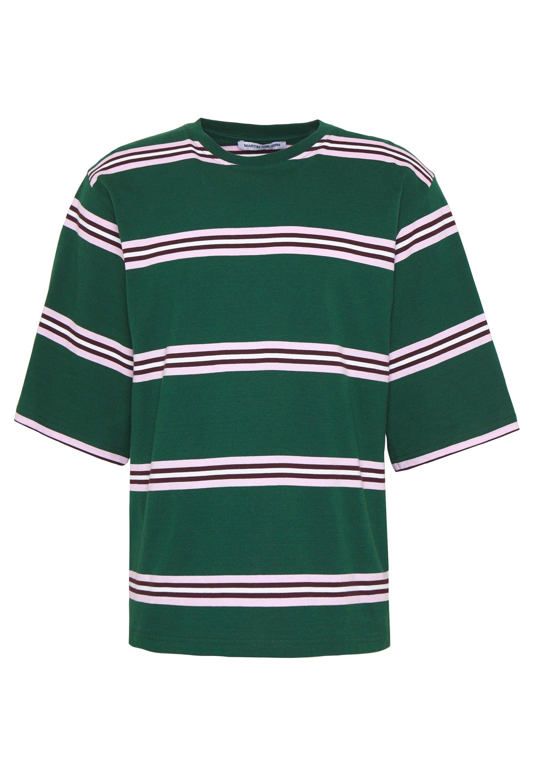 Martin Asbjørn Nick Tee - T-shirt Med Print Evergreen Stripe