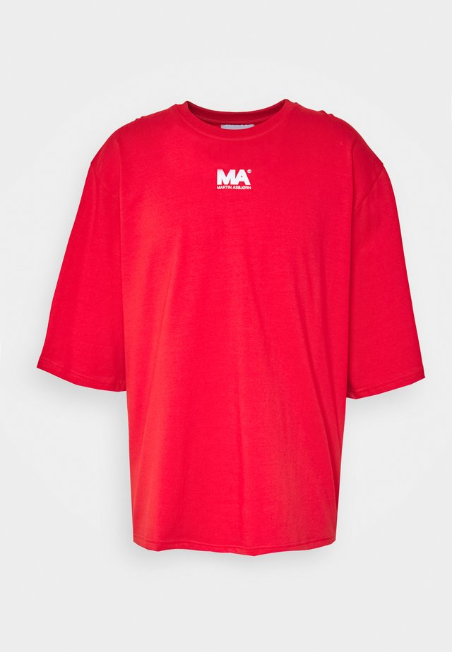 T-shirt print - flame scarlet