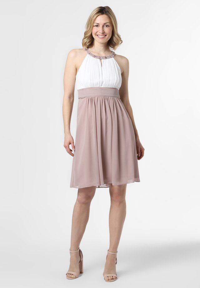 Cocktail dress / Party dress - taupe ecru