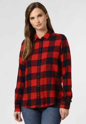 Button-down blouse - red\marine