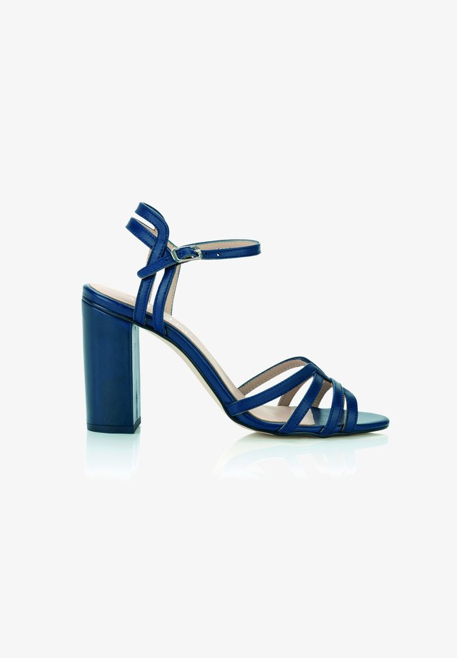 High heeled sandals - marine