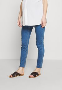 Missguided Maternity - OVER BUMP VICE SUPERSTRETCHY - Jeans Skinny Fit - blue - 0
