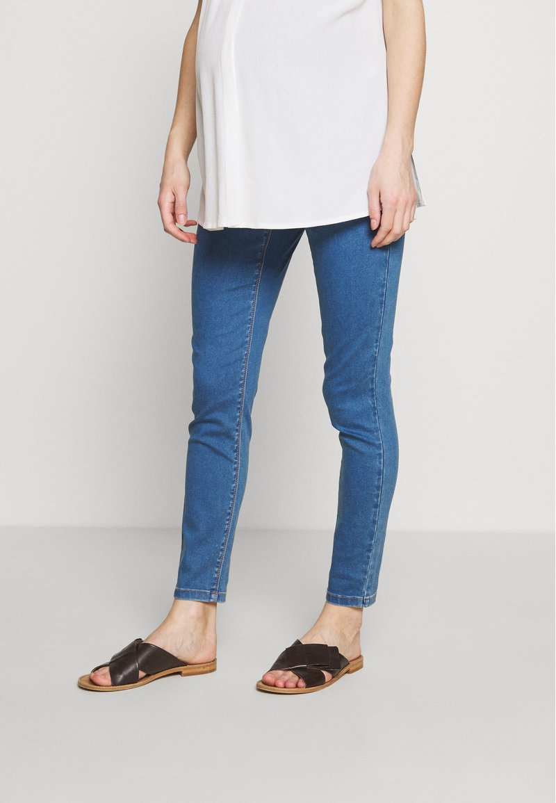 Missguided Maternity - OVER BUMP VICE SUPERSTRETCHY - Jeans Skinny Fit - blue