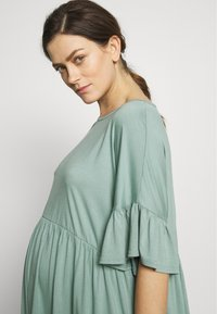 Missguided Maternity - MATERNITY FRILL SLEEVE SMOCK DRESS - Jerseyklänning - sage - 3