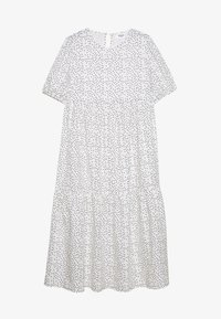 Missguided Maternity - SHORT SLEEVE POLKA DOT SMOCK DRESS - Denní šaty - white - 0