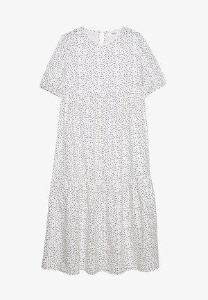 SHORT SLEEVE POLKA DOT SMOCK DRESS - Vardagsklänning - white