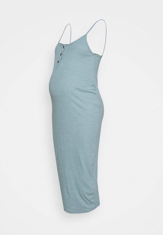 BUTTON FRONT CAMI DRESS - Sukienka z dżerseju - smoke blue