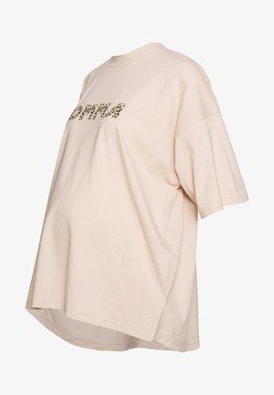 MATERNITY LEOPARD MOMMA - T-shirt print - cream