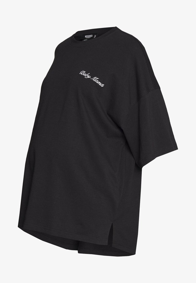 MATERNITY BABY MAMA - T-shirt z nadrukiem - black