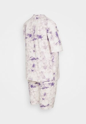 TIE DYE TEE AND CYCLING SET - Tracksuit bottoms - lilac