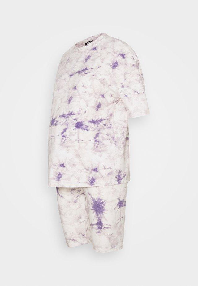 TIE DYE TEE AND CYCLING SET - Pantalon de survêtement - lilac