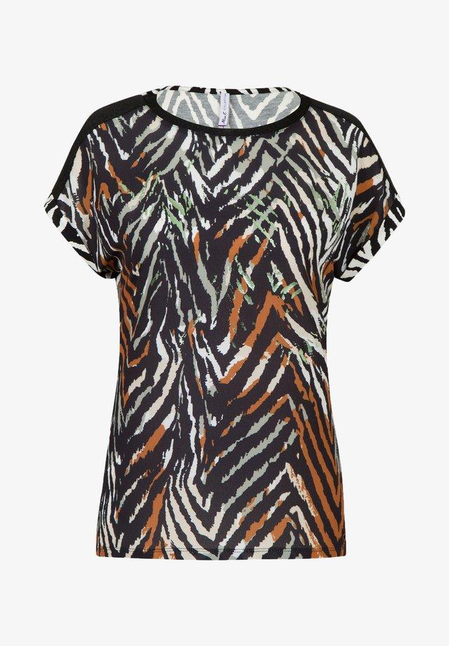 T-shirt print - metallic black